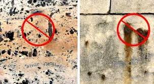Загрязнения мрамора